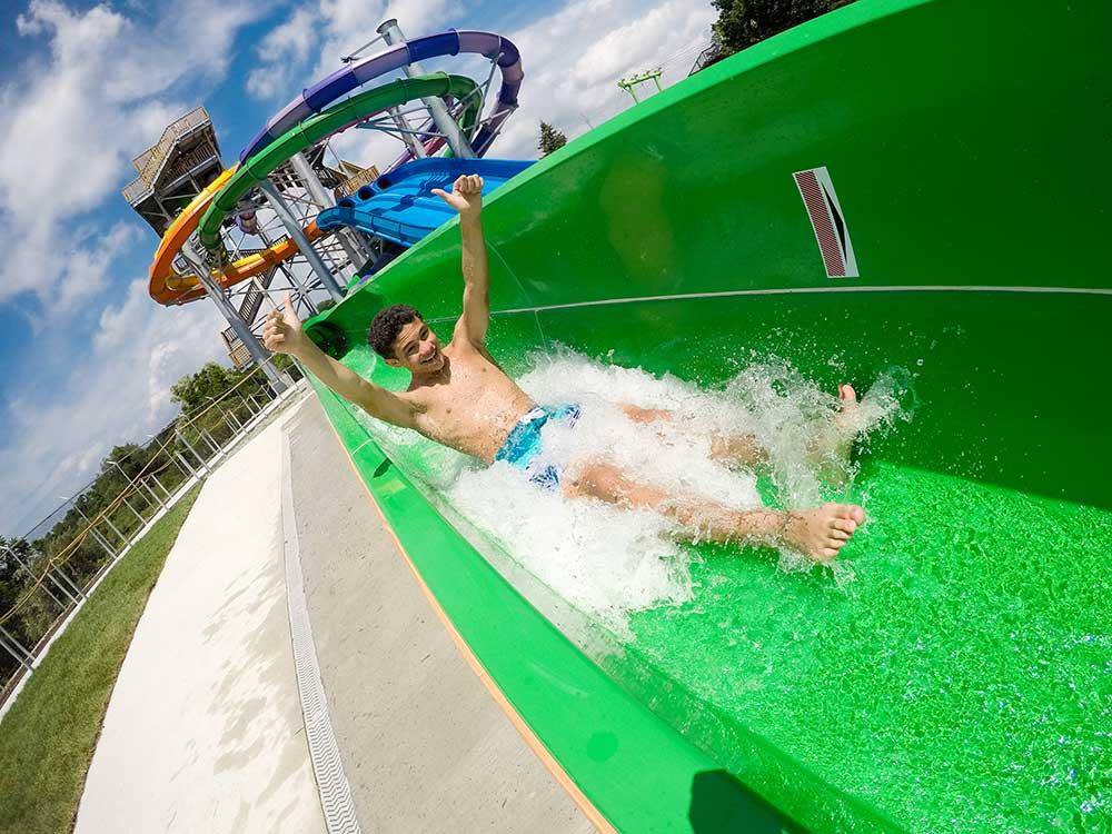 Wet'n'Wild green slide