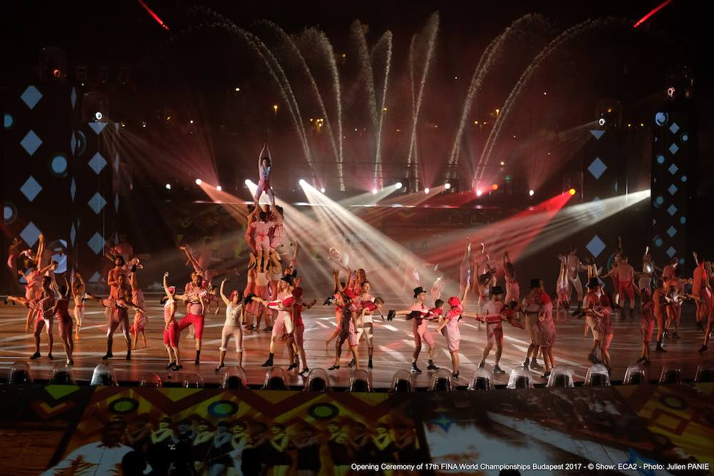 multimedia live event Fédération_Internationale_de_Natation opening ceremony
