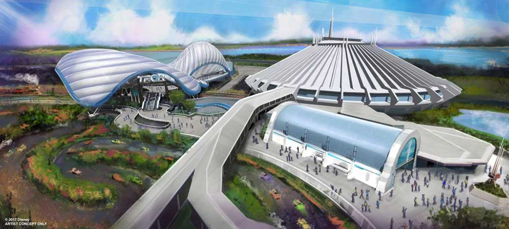 Walt Disney World tron themed attraction