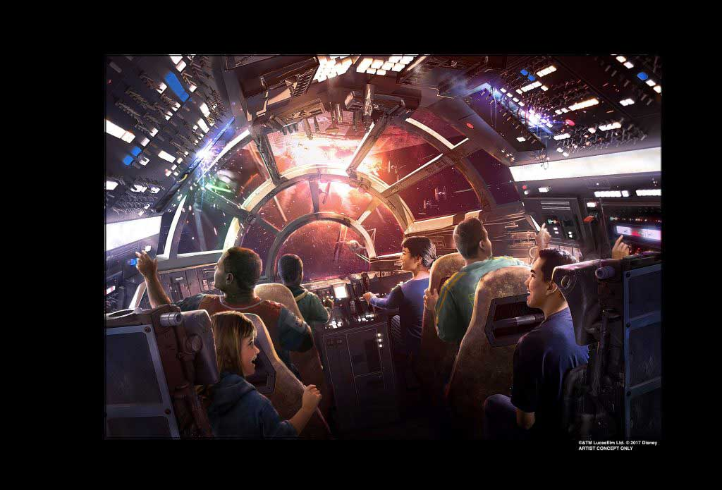 Walt Disney World Star Wars Millenium Falcon