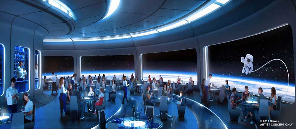 Walt Disney space restaurant
