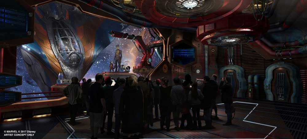 Walt disney World Guardians of the Galaxy themed attraction