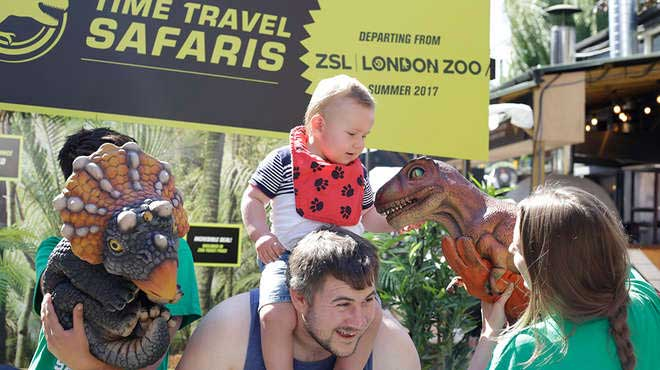 ZSL London Zoo time travel pop up age cy to promote Zoorassic Park