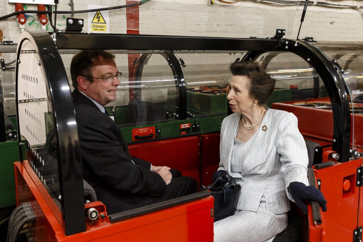 Princess Anne Severn Lamb postal museum train