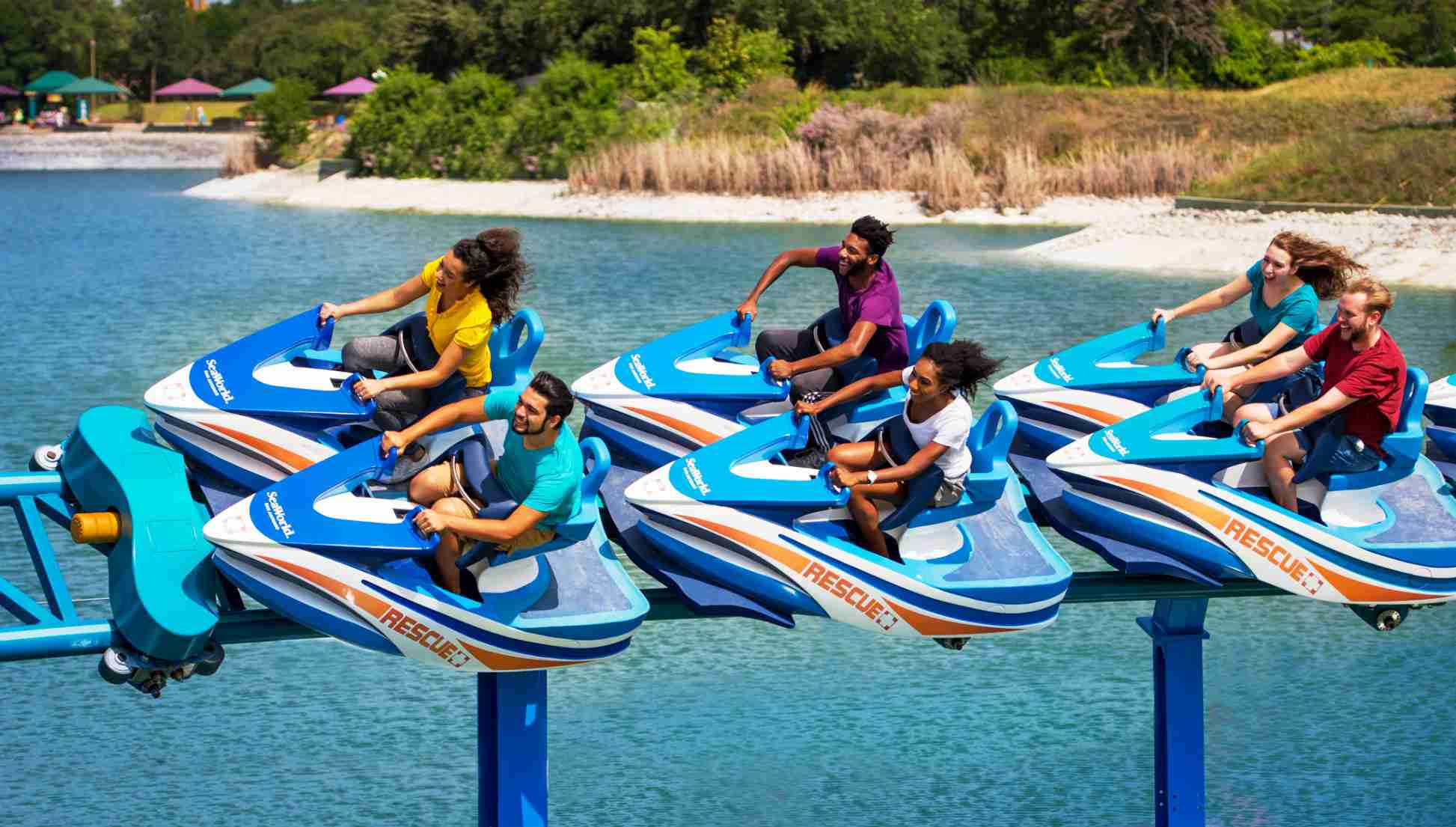 Intamin 'animal rescue' jet-ski coaster opens at SeaWorld San Antonio