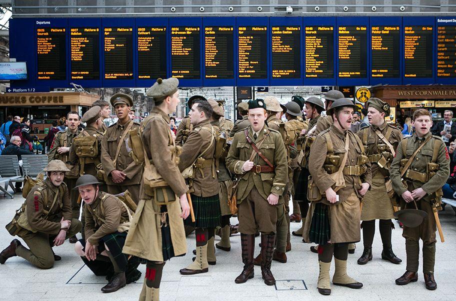 #wearehere soldiers