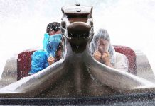soaked Viking Voyage Tayto Park