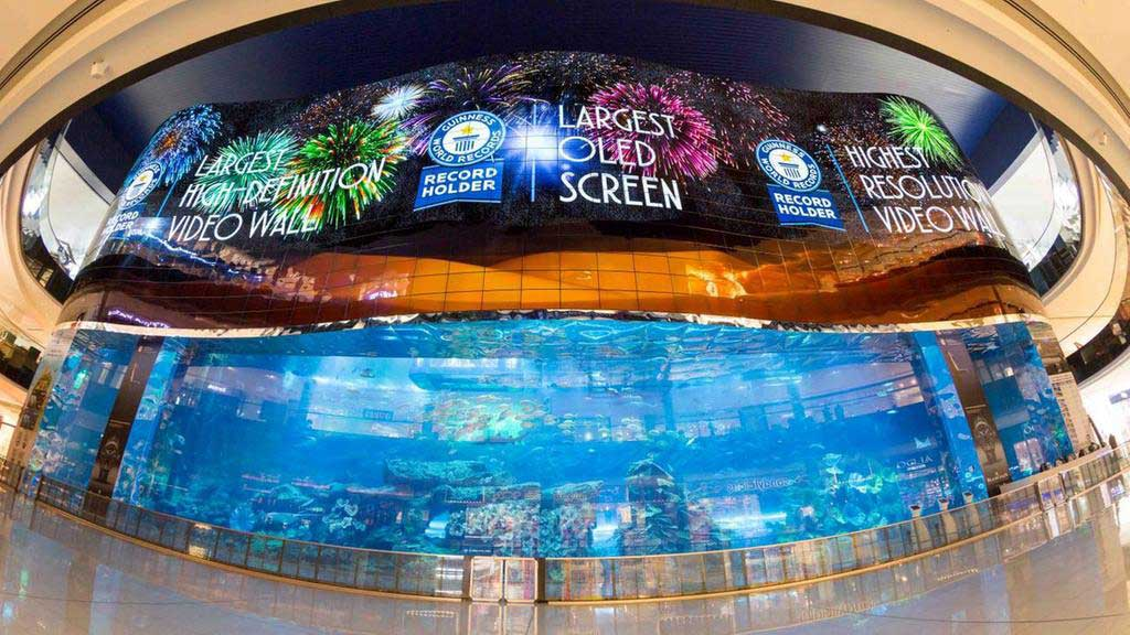 Dubai Mall OLED screen
