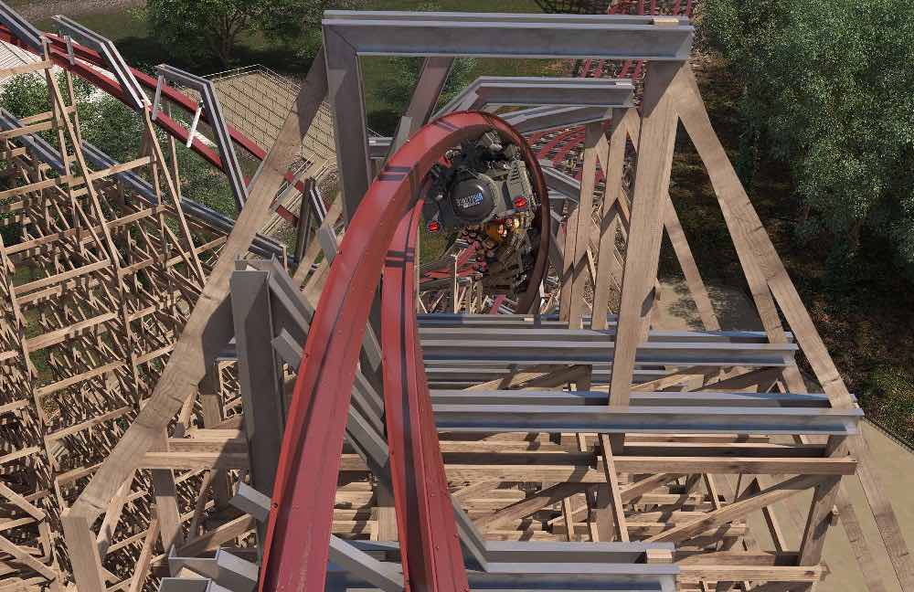A rendering of Steel Vengeance at Cedar Point.