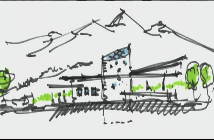 A sketch depicting the Holocaust Museum of Montana, which will be located in Bozeman.