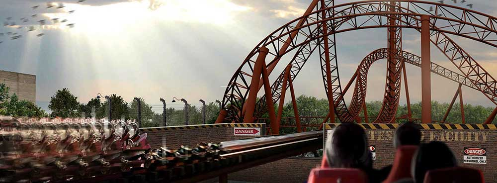 Capitol Bullet Train Coaster Motiongate Dubai Lionsgate Zone