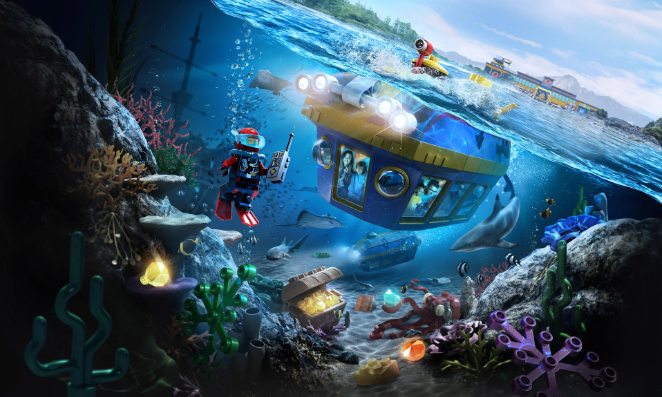 Legoland California new undersea attraction concept art