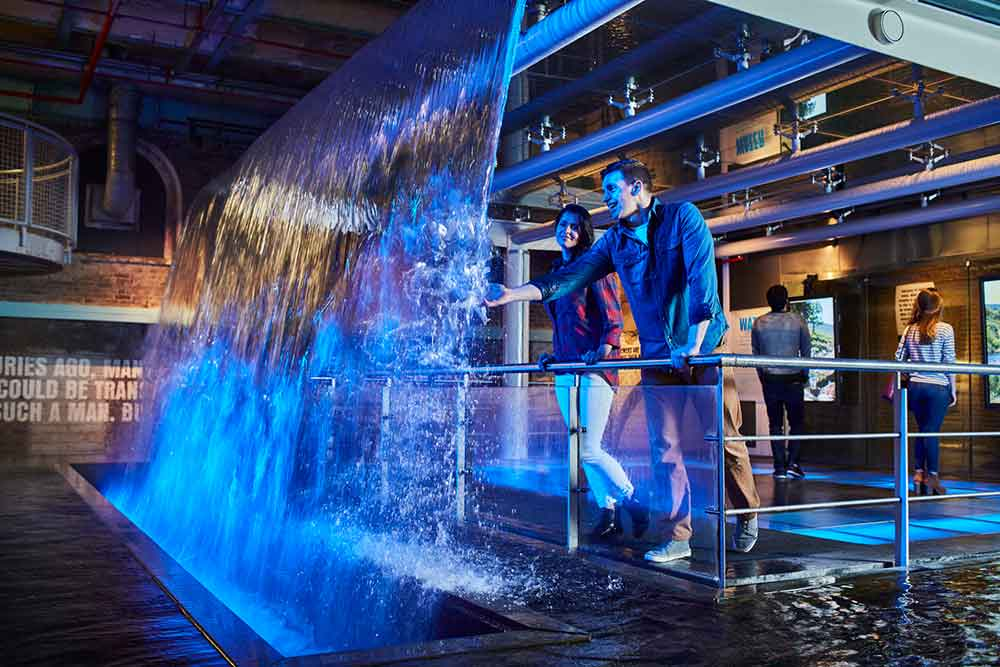 Guinness Storehouse blue water