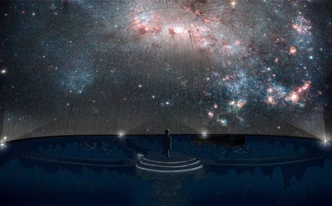 artists rendering of the new planetarium at Telus World of Science