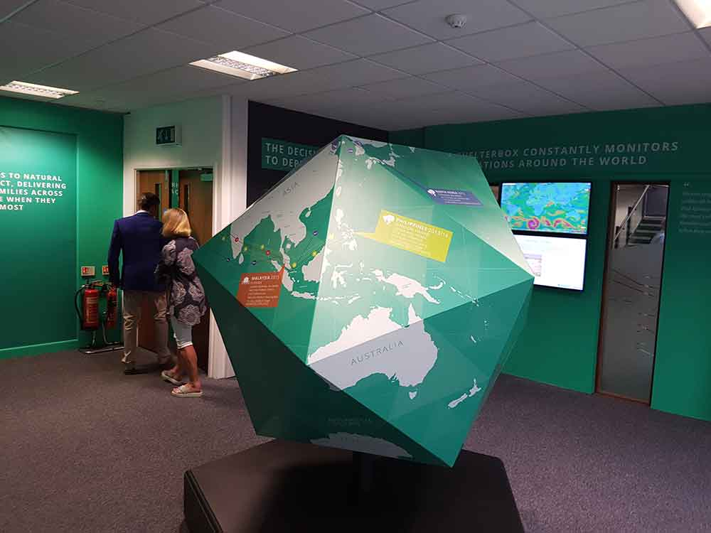ShelterBox Visitor Centre globe education