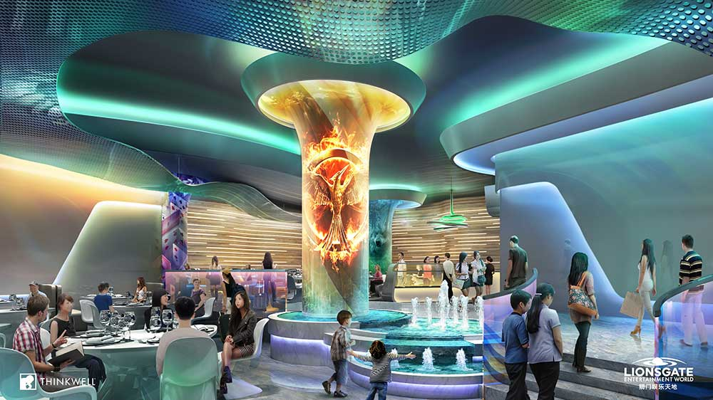 Lai Sun's Novotown Lionsgate entertainment zone by Thinkwell