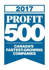 profit 500 Vortex ranked one of Canada's Fastest-Growing Companies for 3rd year running
