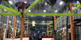 Ropes Courses Inc. installs first 220-degree Sky Rail zip line