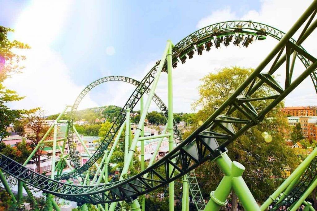 helix rollercoaster ar liseberg sweden