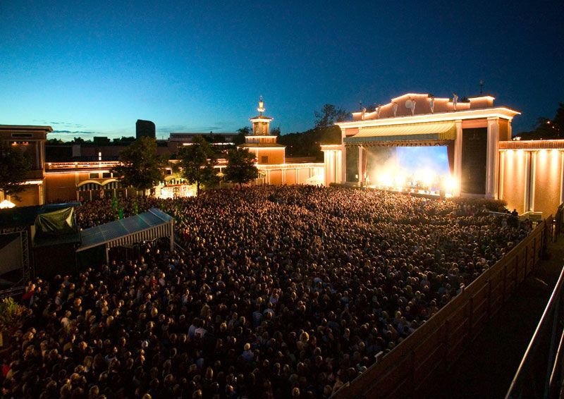 concert at liseberg theme park sweden