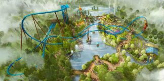 Toverland Avalon expansionw ith Fenix wing coaster and Merlins Quest Boat ride from Mack Rides