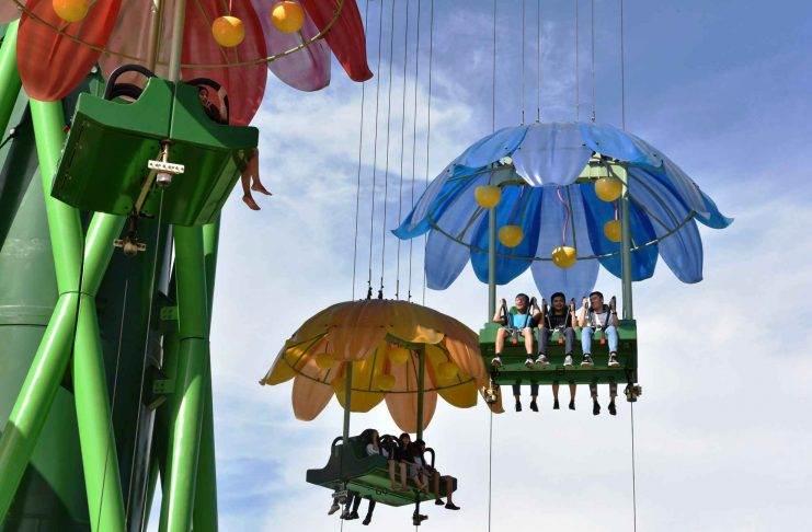 zhuhai Intamin's Rainforest Drop Towers open at Zhuhai Chimelong Ocean Kingdom, China
