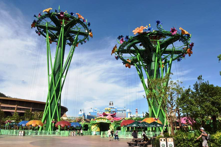 Intamin's Rainforest Drop Towers open at zhuhai China's Chimelong Ocean Kingdom