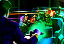 justice League ride Six Flags Magic Mountain Sally Corp voted Best Clone of a Theme Park attraction by usa today