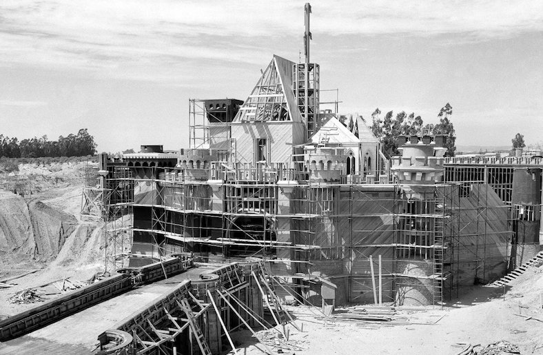 disneyland construction 1955 visual contradictions