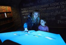 girl and mother at epic irish emigration museum