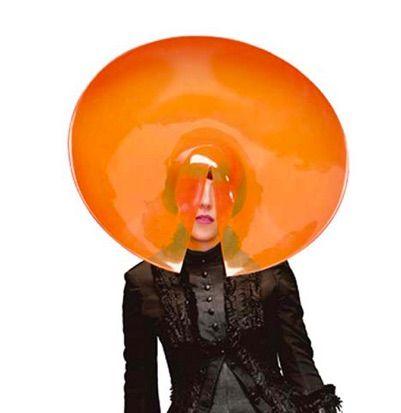 irish lady with orange hat