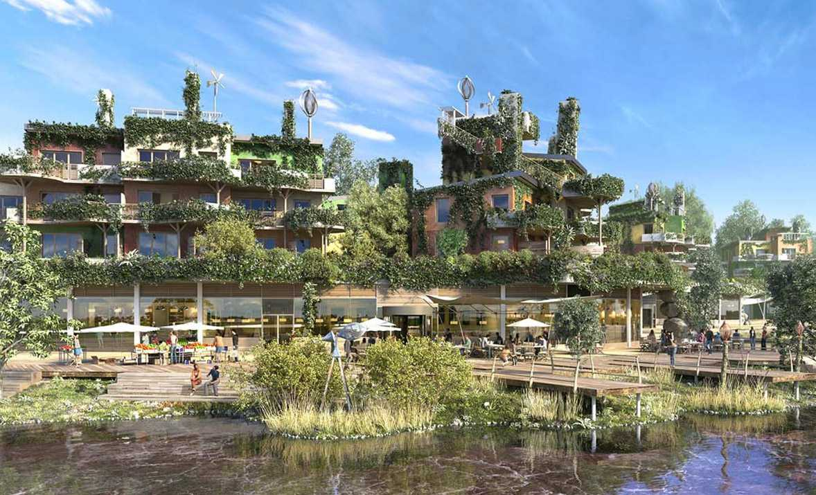 Euro Disney and Center Parcs celebrate opening of eco-tourism destination Villages Nature Paris