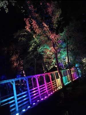 Enchanted Forest Oir an Uisge rainbow bridge