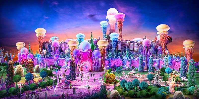 IDEATTACK Evergrance Fairytale theme park Deep Sea ocean zone
