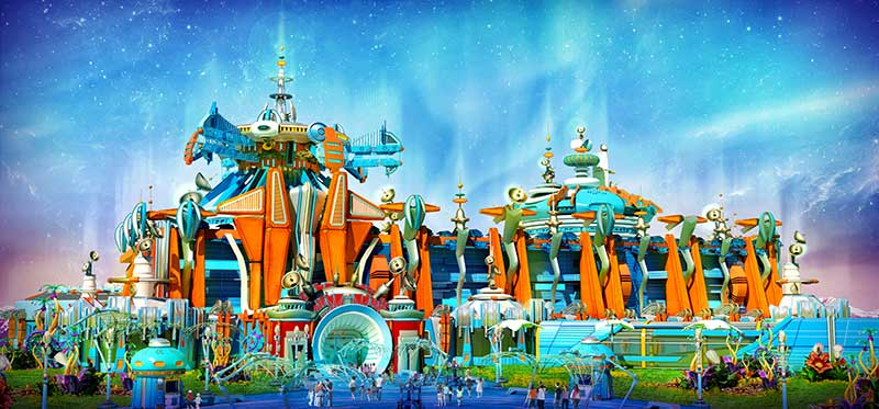 IDEATTACK Evergrance Fairytale theme park Access Outer Space Zone