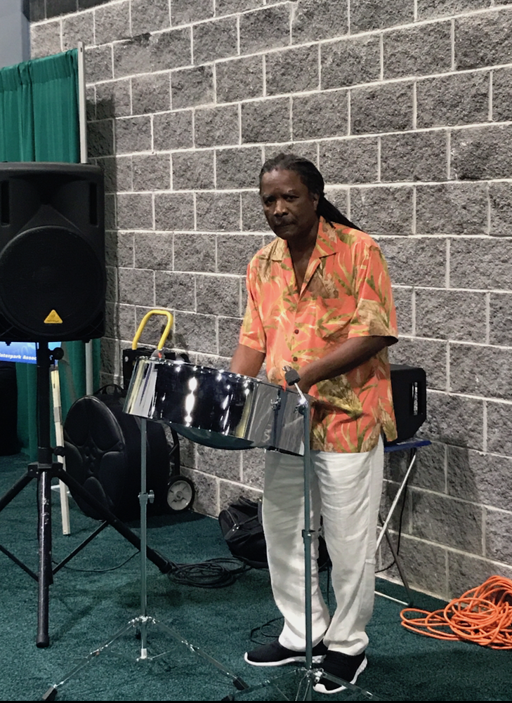 Steel drums player at WWA 2017