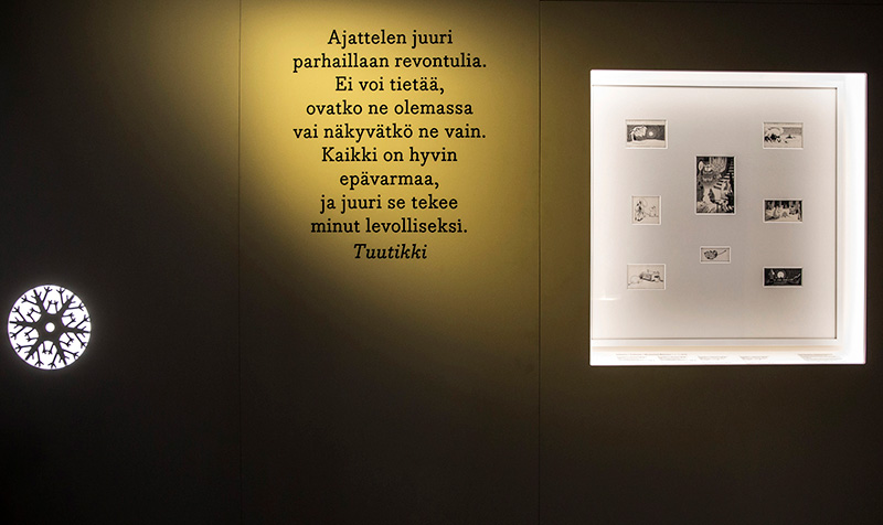 Moomin museum quote tove jansson