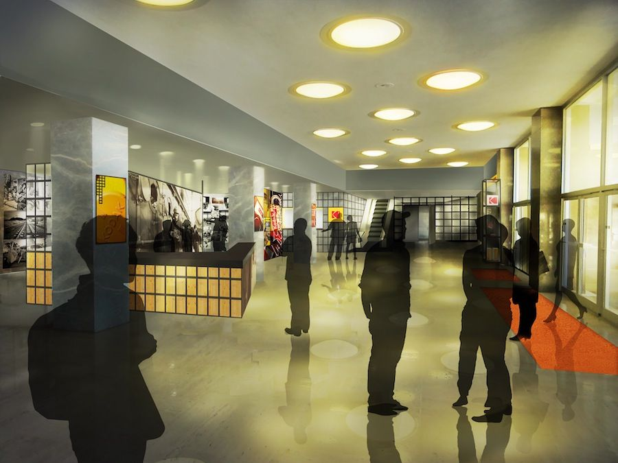 Kodak expereince center Lobby design by jra