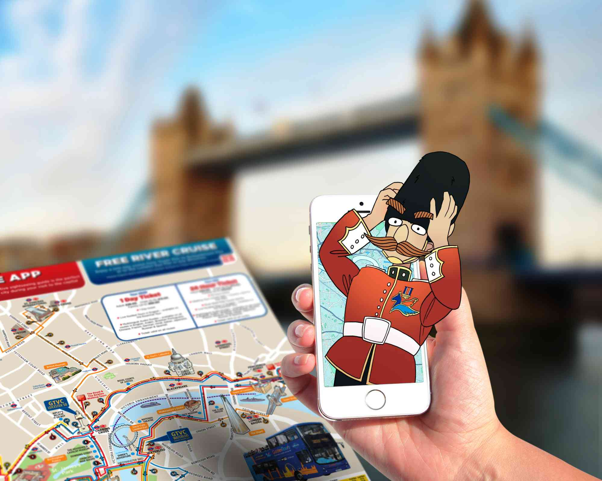 Holovis partners Golden Tours to create London's first ever augmented reality treasure hunt