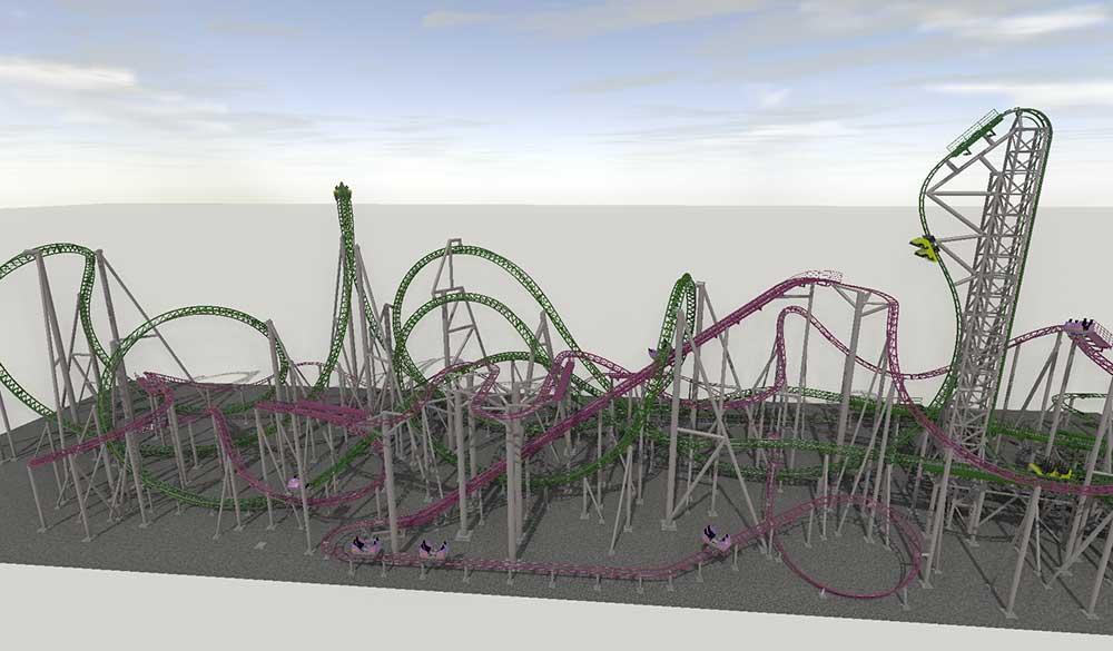 American Dream Nickelodeon Universe - Ride Entertainment Gerstlauer rollercoasters