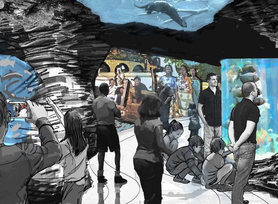 St. Louis Aquarium River journey zooceanarium pgav