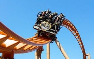Zamperla's Thunderbolt coaster opens at Haichang's Dalian Discovery Kingdom theme park. THeme index and museum index.