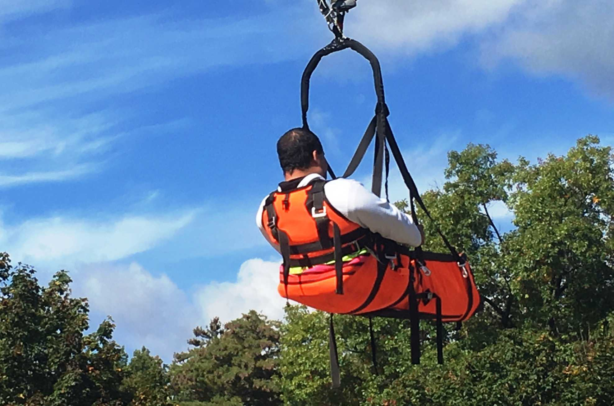 Ride Entertainment and Skycoaster reveal new SkySled harness at IAAPA Attractions Expo