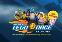 The Great LEGO Race VR Coaster Mack Rides Figment