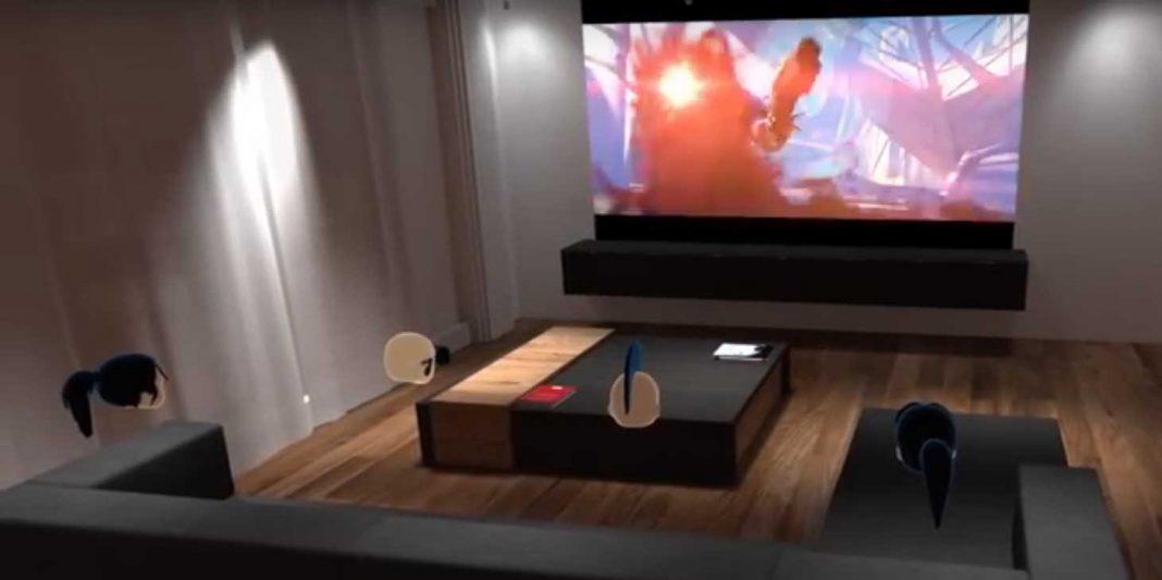 Bigscreen and paramount virtual cinema VR