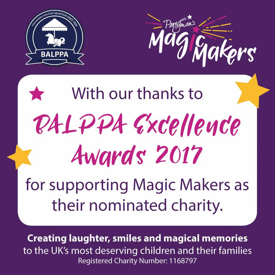 Magic Makers nominated charity at BALPPA's first FEC Trade Exhibition and Excellence Awards, Drayton Manor