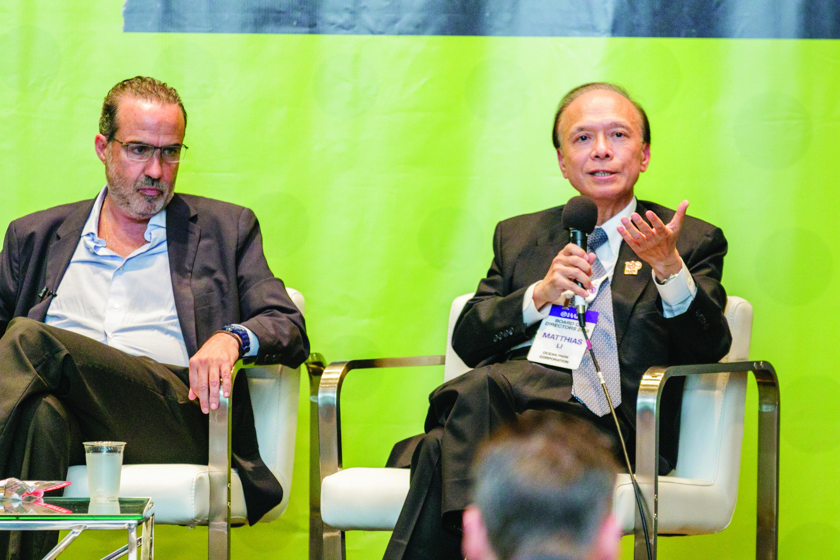IAAPA CEOs 20107 Xavier Lopez Ancona and Matthias Li