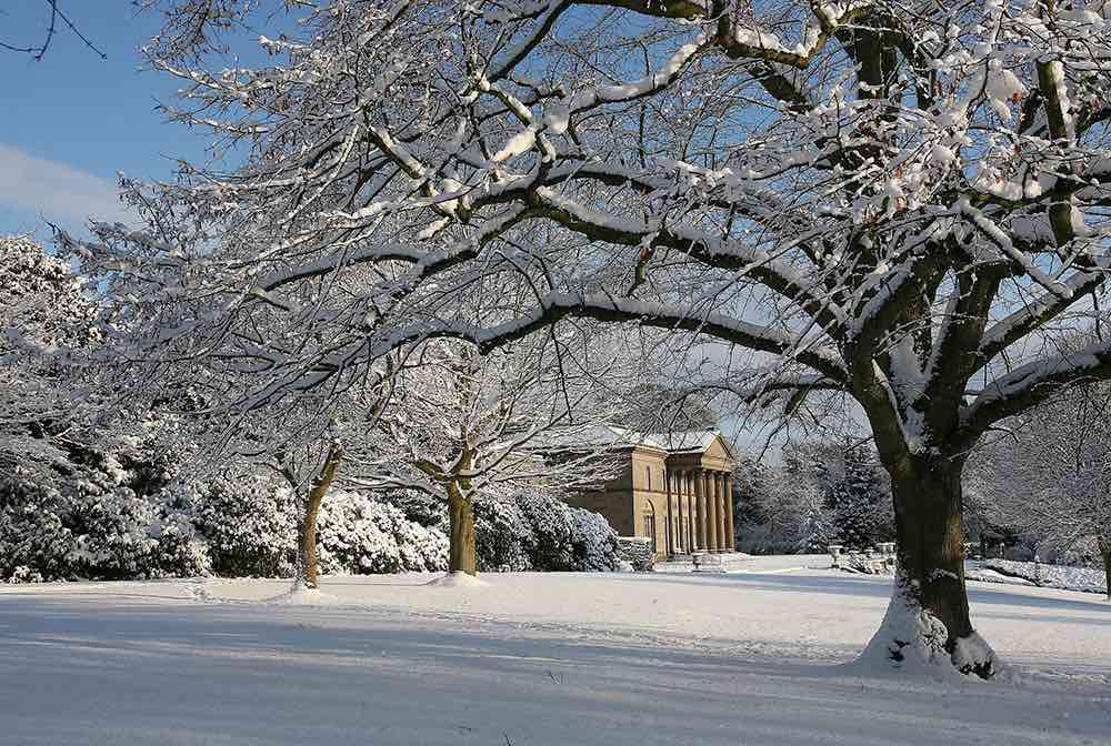 mansion exterior snow tatton park
