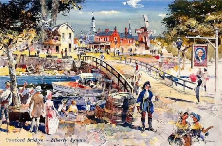 concord bridge liberty square disney themed design