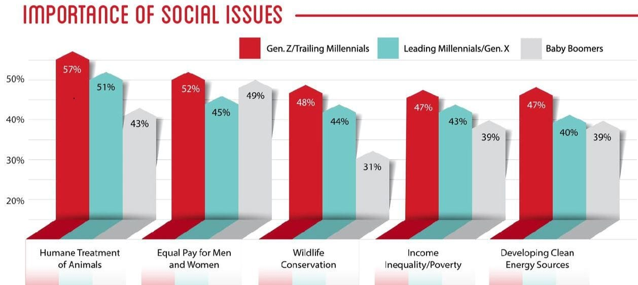 Social Issues generationally speaking cultural shifts PGAV report with h2r market research